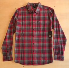 Volcom Men's Long Sleeve Button Up Shirt NWT  | eBay Button Up Shirts, Men Casual, Plaid, Buttons, Long Sleeve, Sleeves, Mens Tops, Ebay, Women