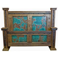 King Bed with Turquoise Copper Panel