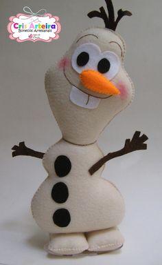 Kit Frozen, com Elsa, Anna e Olaf, confeccionados em feltro. Olaf Frozen, Felt Diy, Felt Crafts, Diy Crafts, Felt Dolls, Origami, Sewing Projects, Elsa Anna, Handmade