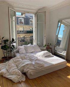 Room Ideas Bedroom, Bedroom Decor, Paris Bedroom, Bedroom Shelves, Bedroom Signs, Bedroom Apartment, Bed Room, Master Bedroom, Aesthetic Room Decor