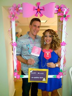 My husband and I @ our baby shower.. Photo booth