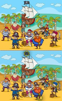 Pirate Activities, Social Skills Activities, Preschool Learning Activities, Spot The Difference Kids, Funny Mind Tricks, Word Games For Kids, Brain Teasers Riddles, Cute Pastel Wallpaper, Sherlock Holmes