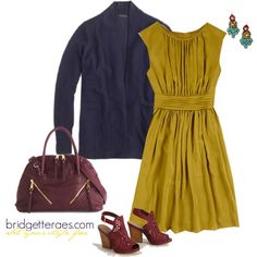 Love the citron, navy and plum together- I would wear jeans and citron Cardi