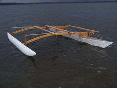 Doug Weir's Proa Project for Paddling Sailing and Marine Adventure: LAUNCH DAY FOR MY OUTRIGGER CANOE (PROA)