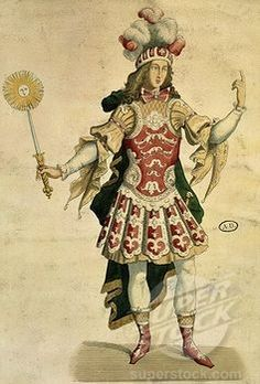 LOUIS XIV, King of France, in ballet costume for dancing at Aix, France, 1660 engraving Stock Photo Theatre Costumes, Ballet Costumes, Dance Costumes, Historical Costume, Historical Clothing, Ludwig Xiv, Ballet Shows, Costume Carnaval, Ballet Russe