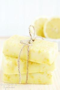 Savon au citron fait maison