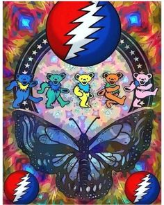 Grateful Dead : love the butterfly :) Grateful Dead Tattoo, Grateful Dead Image, Grateful Dead Poster, Grateful Dead Bears, Grateful Dead Shirts, Grateful Dead Quotes, Psychedelic Art, Grateful Dead Wallpaper, Dead And Company