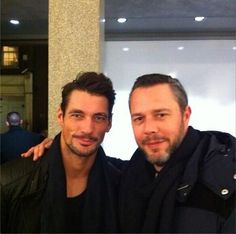 David Gandy at the private view of Rich Hardcastle's 'Dark Tales'