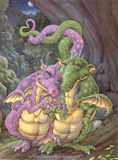 Rich in Love Dragon Couple 8.5x11 Signed Print von brownieman, $5.00