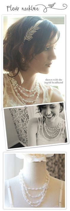 Fleur Necklace: Amys Bridal Accessories.  I wish this wasn't so expensive!