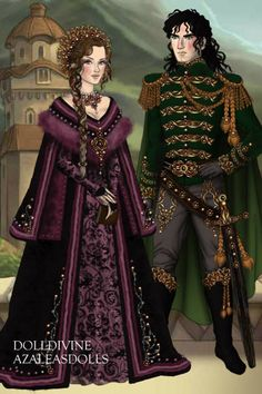 Lady Saphixelle and Prince Thyrik ~ by Inanna ~ created using the LotR Hobbit doll maker | DollDivine.com