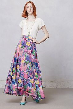 oh... I really, really, really want this. Actually, I NEED this in my life. Talitha Postcard Skirt #anthropologie