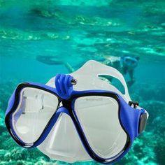 ER La cámara subacuática llano máscara de buceo scuba snorkel Gafas de  natación para GoPro   65d2023f80