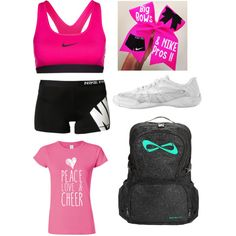 Cheer practice outfit, made with polyvore