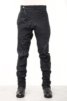 Hajotrawa Mens Plain Elastic Waist Stretch Harem Drawstring Multi Pocket Zipper Jogger Pants