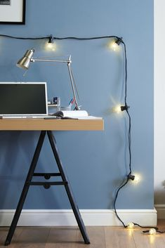 Create serious desk envy with festoon lights draped around your work space. Adding a unique, retro industrial aesthetic, they provide the perfect ambient lighting for your light bulb moment!