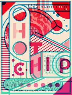Hot Chip (Milwaukee) - Limited Edition Gig Posters Catharsis Printworks
