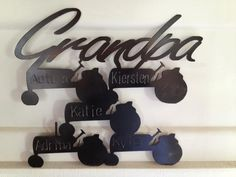 Customized metal wall art for indoors or out. $55.00, via Etsy.