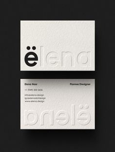 Elena Brand Identity - Mindsparkle Mag You are in the right place about Logo Design clothing Here we Business Cards Layout, Letterpress Business Cards, Corporate Design, Corporate Branding, Business Card Design Inspiration, Business Design, Identity Card Design, Brochure Design, Stationary Design