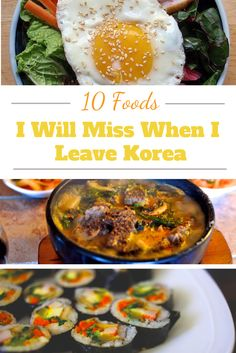 10 Foods I Will Miss When I Leave Korea