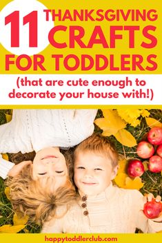 These easy Thanksgiving crafts for toddlers are so cute, you'll want to use them to decorate for Thanksgiving dinner! Have fun with these simple Thanksgiving crafts for kids, perfect for toddlers and preschoolers! Toddler Sensory Bins, Toddler Preschool, Toddler Crafts, Sensory Play, Kids Crafts, Preschool Ideas, Thanksgiving Crafts For Toddlers, Thanksgiving Activities, Thanksgiving Decorations