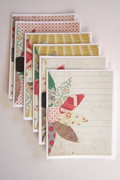 Dahlia Flower Blank Cards // Set of 6