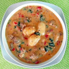 """Gnocchi, Sausage & Spinach Soup - """"It's that time of year to get the soup kettle  out"""""""