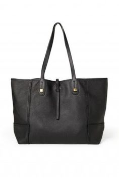 Black Leather Tote Bag for Women | Paris Market Tote | Stella & Dot click to shop @ www.stelladot.com/loriakowalik