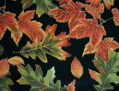 Fall Leaves Fabric By The Yard Quilting Sewing Fall Tapestry Collection By Fabric-Quilt by NeedlesnPinsStichery on Etsy