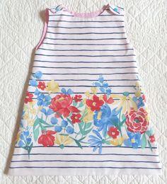 e4aa652c27d61 robe tunique enfant rayures et fleurs 2 au 4 ans. Un grand marché