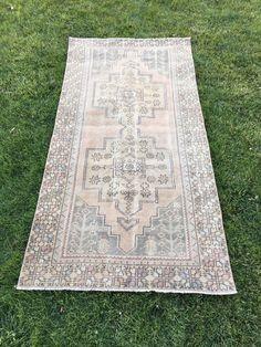 "Vintage Fashion Tribal Turkish Oushak Rug,Home Decor Shabby Chic Rug 3'10""x8' | Antiques, Rugs & Carpets | eBay!"