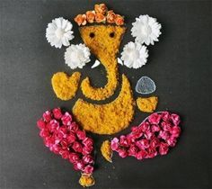 Rangoli Designs of Lord Ganesha                              … Rangoli Designs Diwali, Rangoli Patterns, Rangoli Designs Flower, Happy Diwali Rangoli, Flower Rangoli, Beautiful Rangoli Designs, Rangoli Ideas, Rangoli Borders, Flower Designs