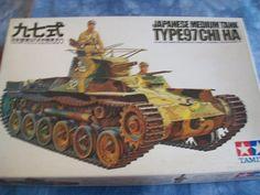 1970's Tamiya 1/35 Scale Military Japanese Medium Tank Type 97 Chi-ha Model by MyHillbillyWays on Etsy