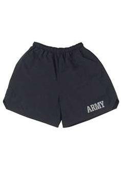 G I Style Black Physical Training Army Shorts ! Buy Now at gorillasurplus.com