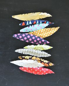 Bohemian Fabric Feather Headdress... | Jacks and Kate