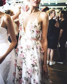 pretty blooms on a dress
