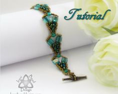 Pdf Tutorial Mercia Bracelet with Super Duo Beads and Czechmates Tile Beads, Beading Pattern