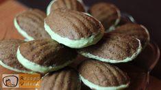 Egyszerű mandulás kagyló süti recept elkészítése videóval. A mandulás kagyló süti elkészítését, részletes menetét leírás is segíti. Confectionery, Cookies, Food, Crack Crackers, Biscuits, Essen, Meals, Cookie Recipes, Yemek