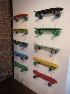 These could be used for cute shelves to put in a boy's room, to put his knick-knacks on. Used boards are all over at garage sales.    http://bit.ly/IxEk75 - cool boards