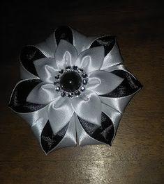 """Bricoart.kam: créer tout en préservant la planète: DIY/MK/Tutorial/Kanzashi flower """"Domino"""""""