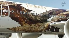 Watch the unveiling and time lapse of our latest #AirNZHobbit Plane featuring Smaug!