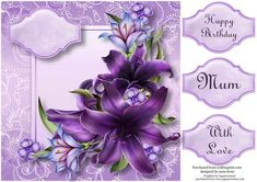Beautiful Dark Shadows Lilies Lacey Square - CUP455843_1763 | Craftsuprint