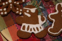 Pirate Christmas cookie Liz and I made, seems right for a Hidden Hollow Christmas.