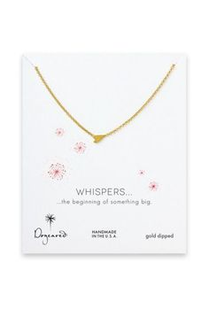 Gld Quote Dogeared Wag Lab Necklace  Gld  Chatoaccess #chatoaccess #dogeared