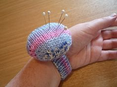 Ravelry:  knitting wrist pincushion