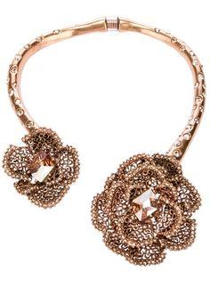 OSCAR DE LA RENTA Embellished Rose Necklace
