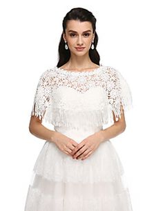 Women's+Wrap+Ponchos+Lace+Wedding+Party/Evening+Tassels+–+USD+$+53.98