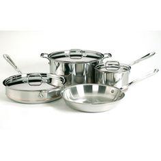All-Clad Copper Core Cookware Set, 7-piece | CHEFScatalog.com