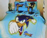 Sonic The Hedgehog Home Decor Items Photos Of Posters Chairs Clocks Consoles And Bed Spread Comforters