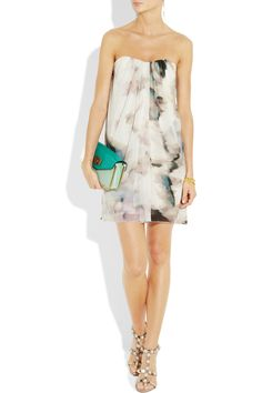 ALICE + OLIVIA Printed silk-chiffon dress